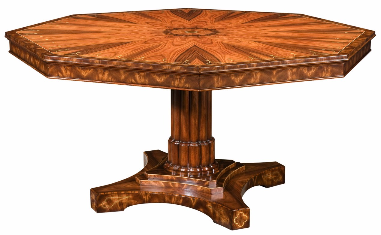 A fine rosewood octagonal centre table