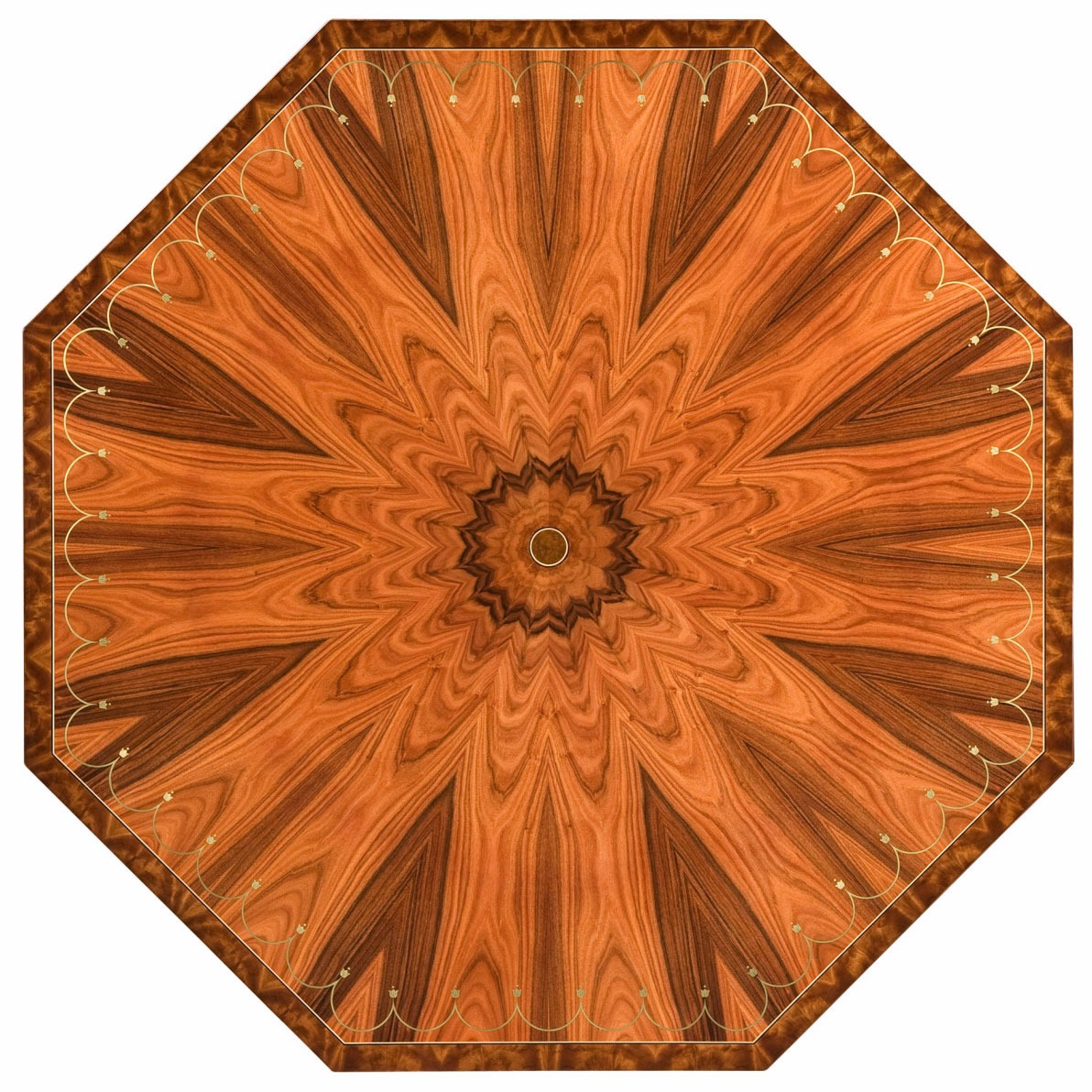 Fine rosewood octagonal centre table