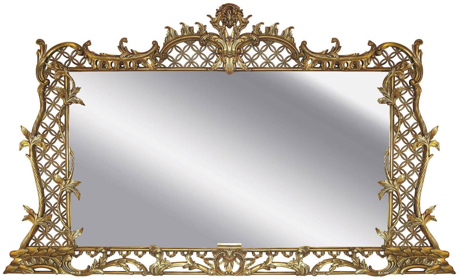 George III overmantel trellis mirror