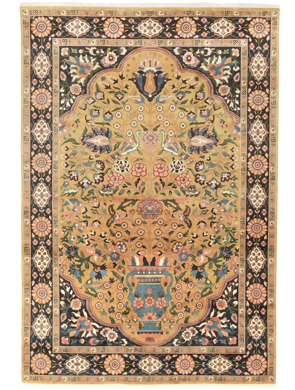 Bakhtiari Nomad design silk pile carpet