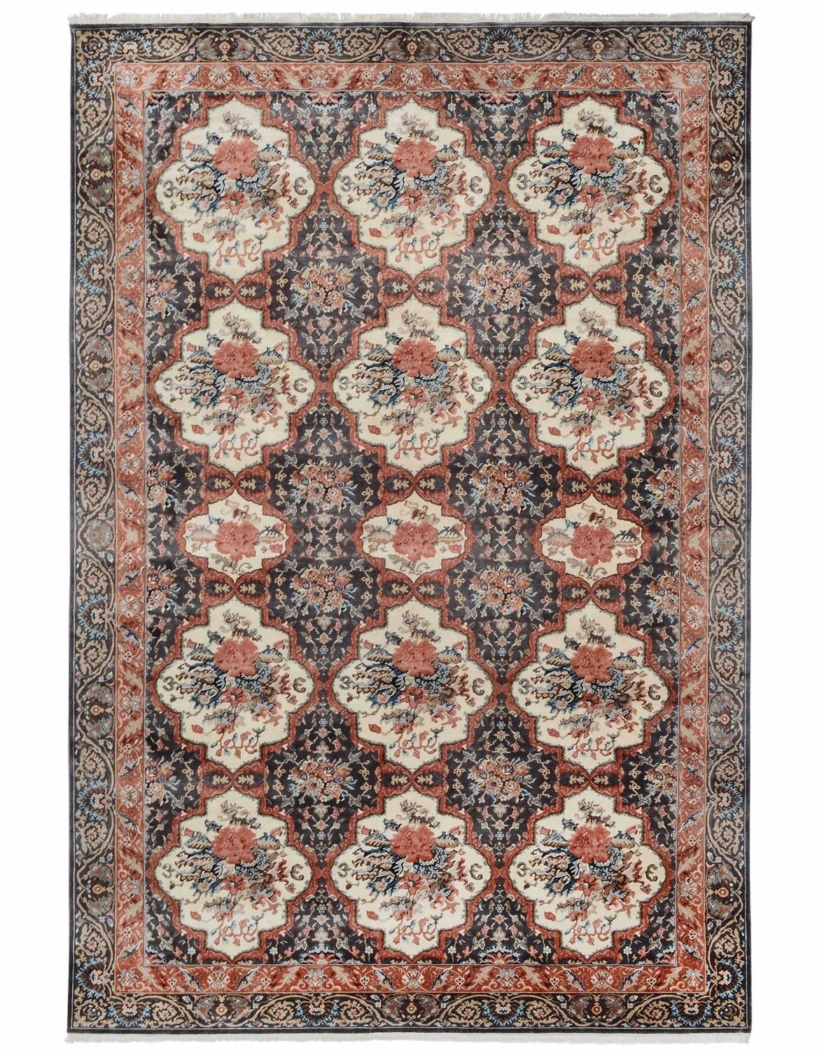Bakhtiari Workshop design silk pile carpet
