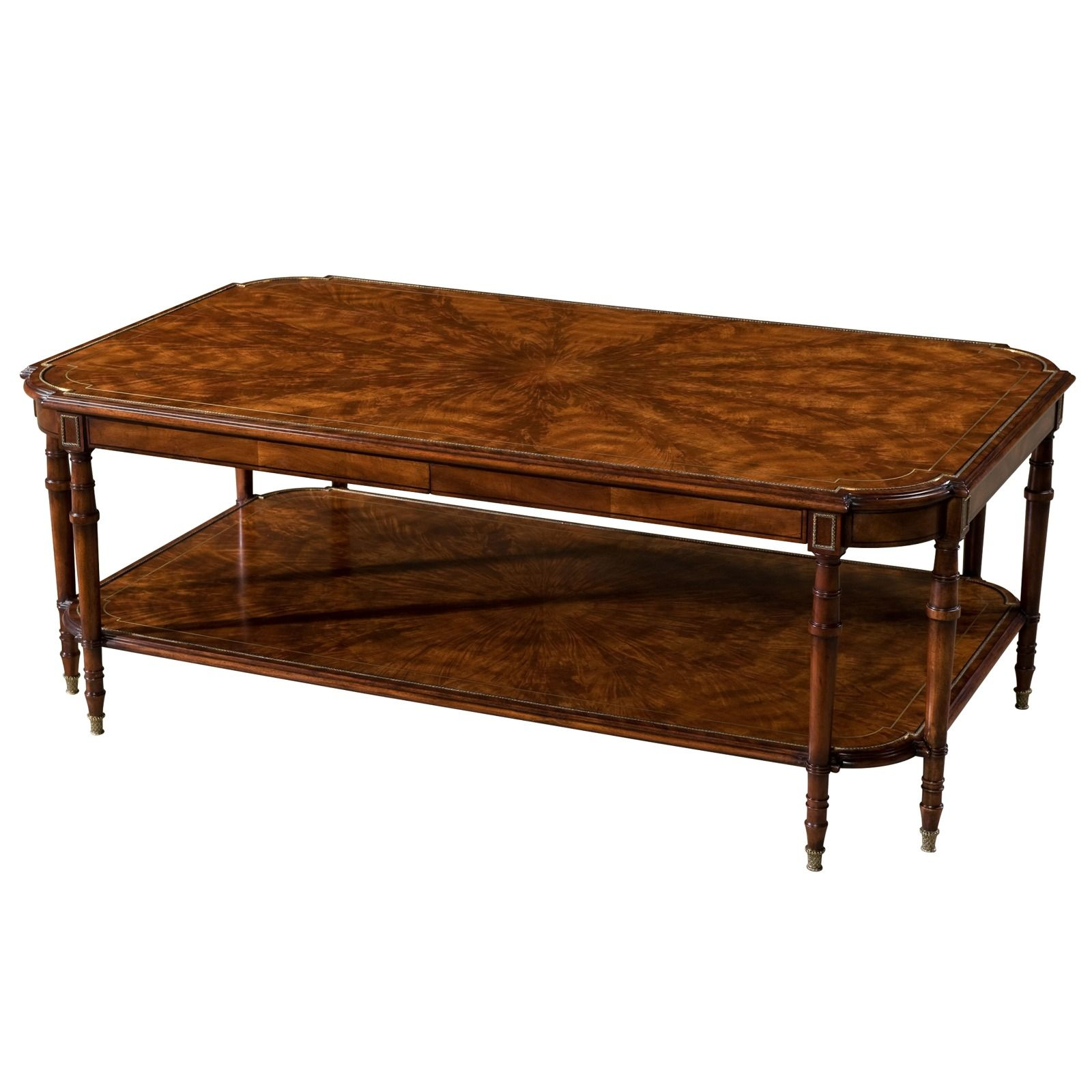 Flame mahogany coffee table