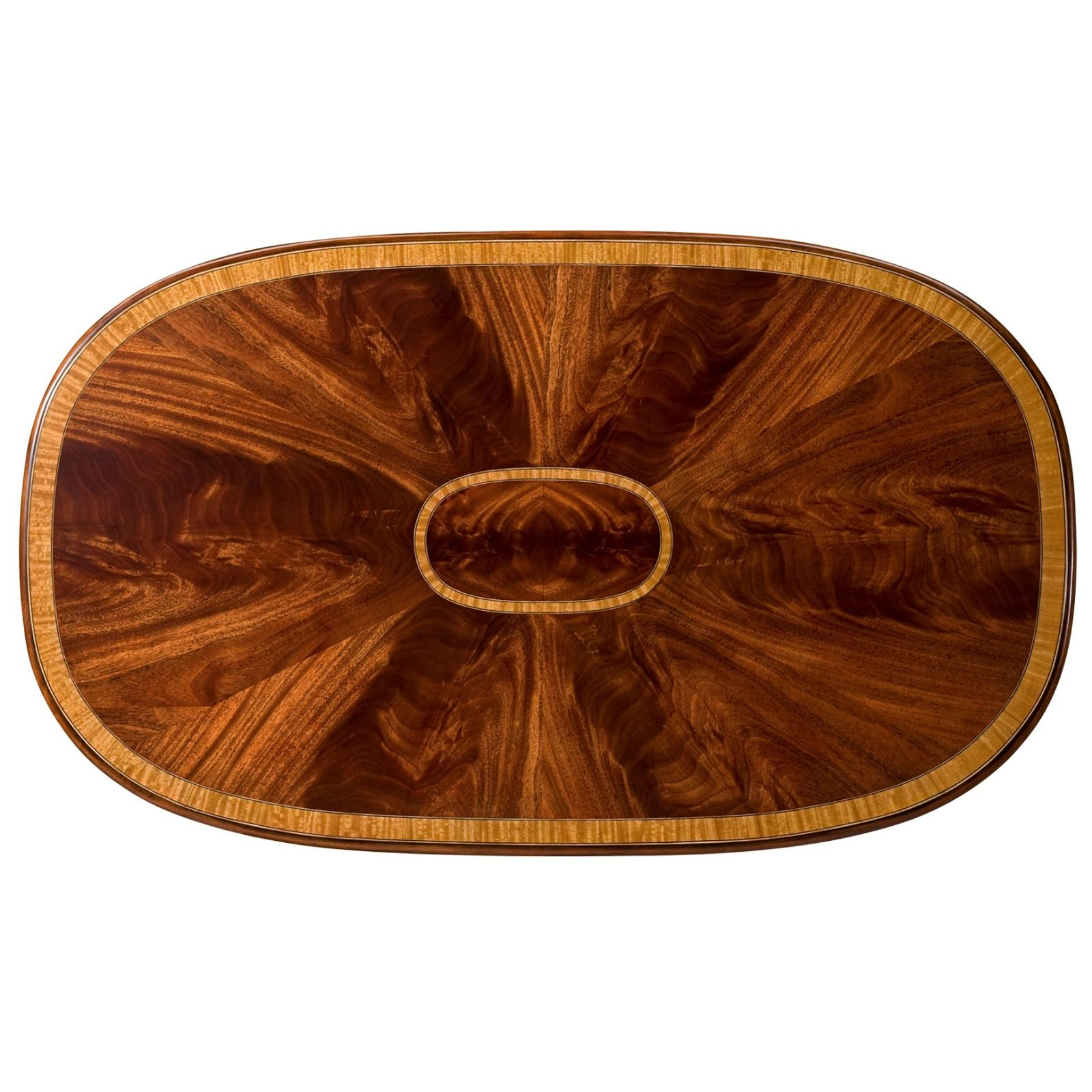 Swirl mahogany and satinwood coffee table
