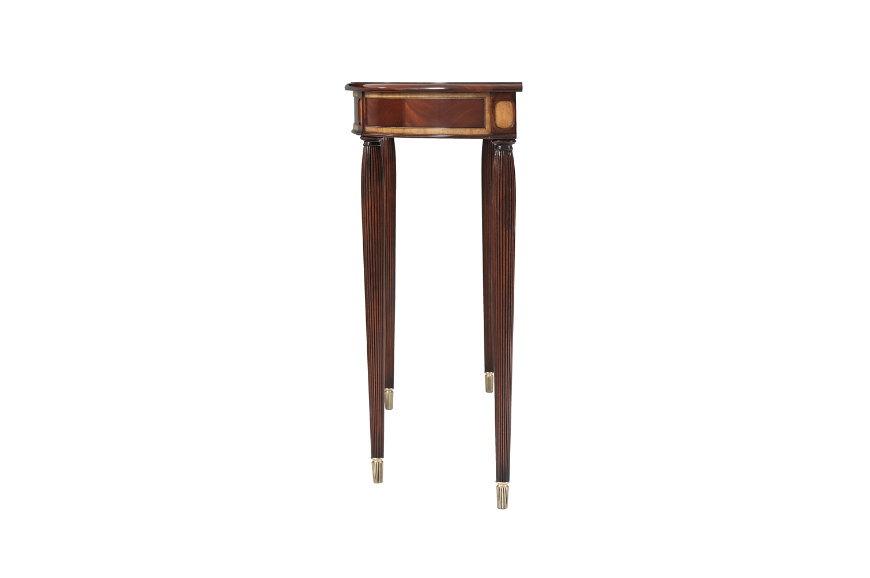 Swirl mahogany demi lune console table