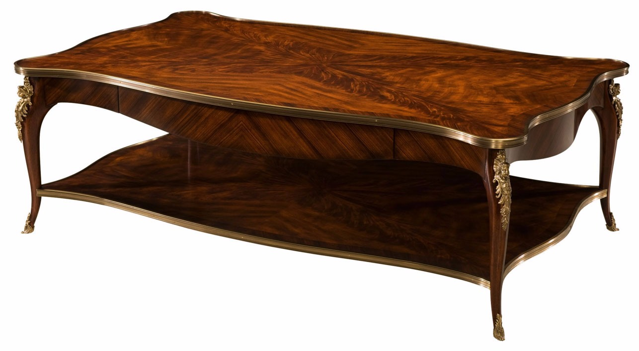 A brass mounted flame mahogany coffee table coffee tables from brights of nettlebed Coffee tables uk