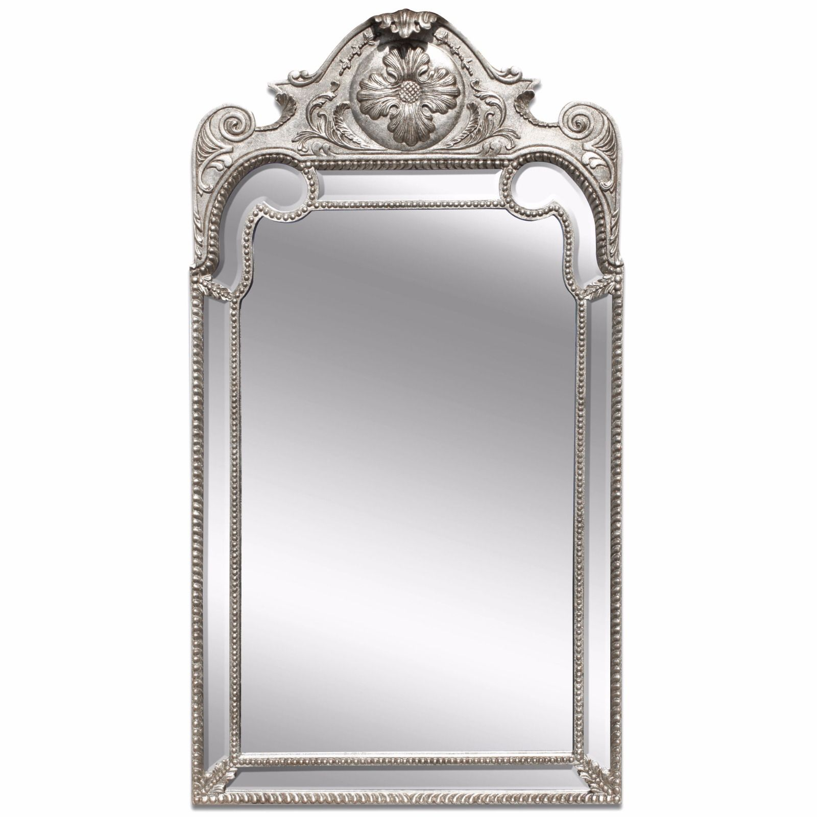 Queen Anne style silver giltwood mirror