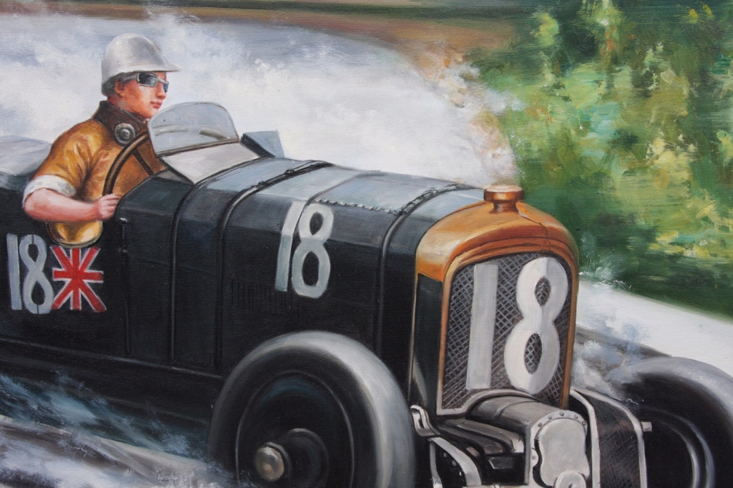 Sir Henry Birkin in a Bentley Blower