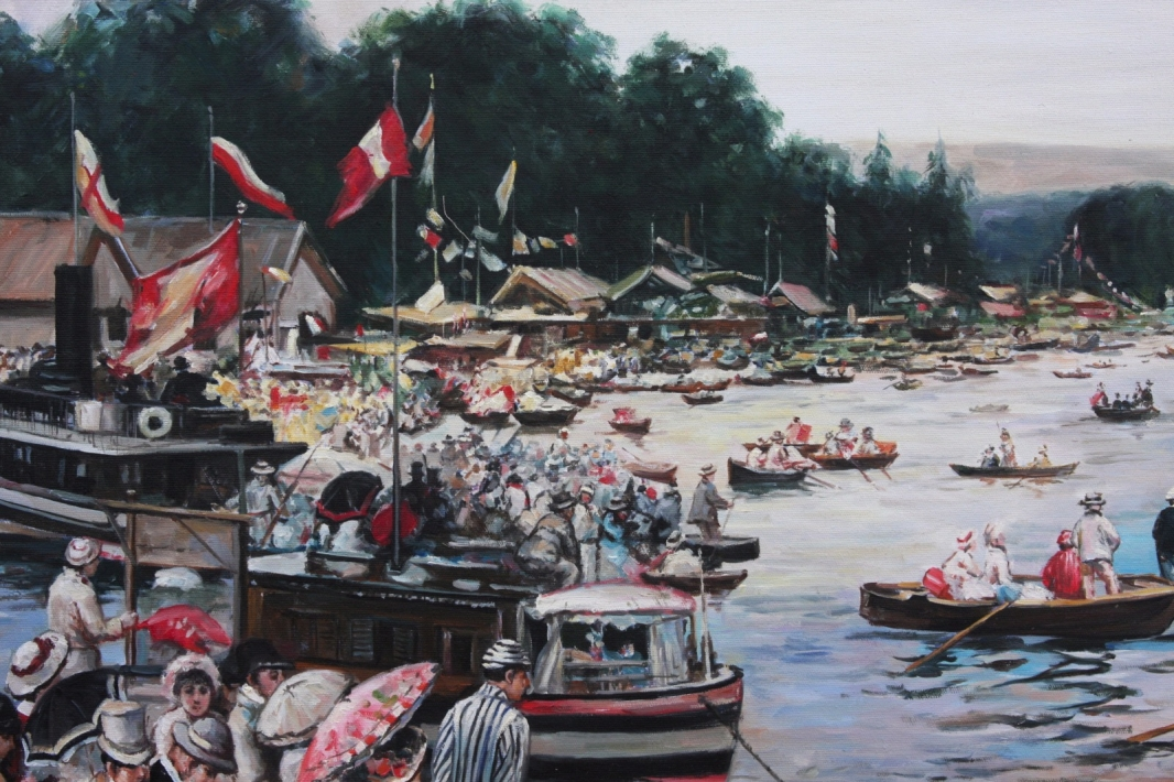 Oil painting after Henley Regatta 1877 by James Tissot