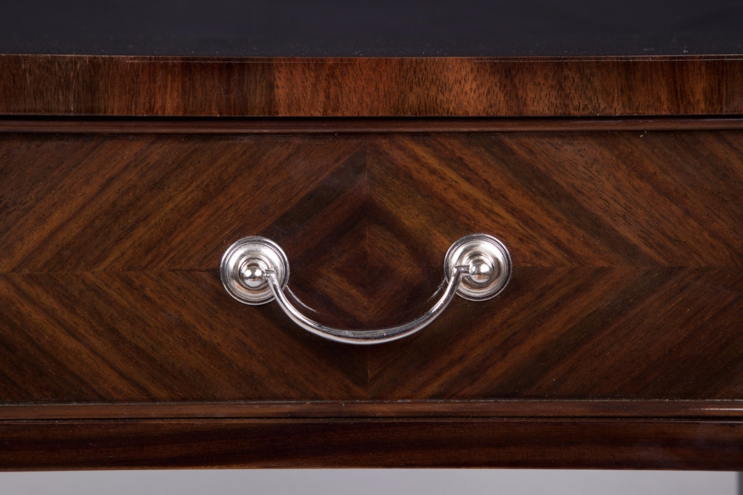 Rosewood console table with two drawers