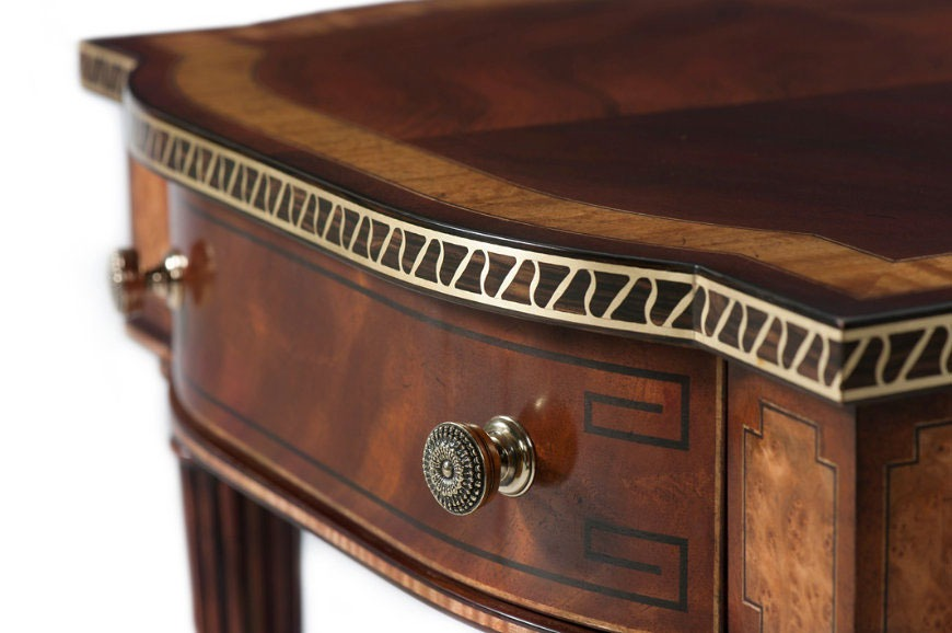 Mahogany and Satinwood accent table