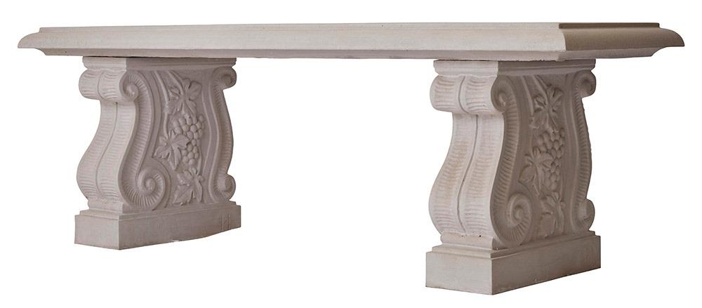 Scroll stone bench