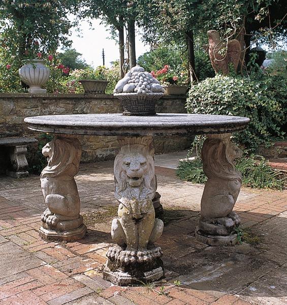 Stone lion circular table - Portland