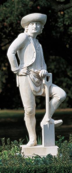 The Gardener stone statue