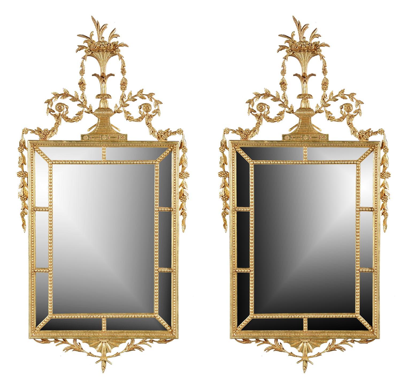 Hepplewhite style mirror