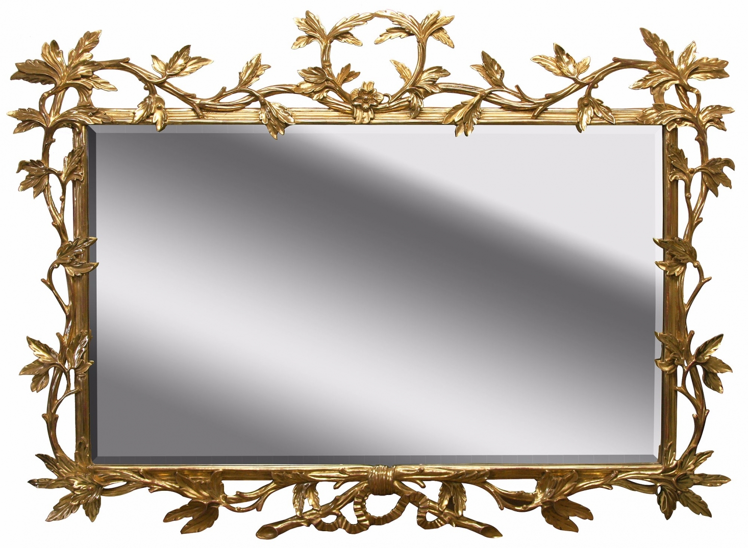 Water gilded Chippendale style landscape mirror