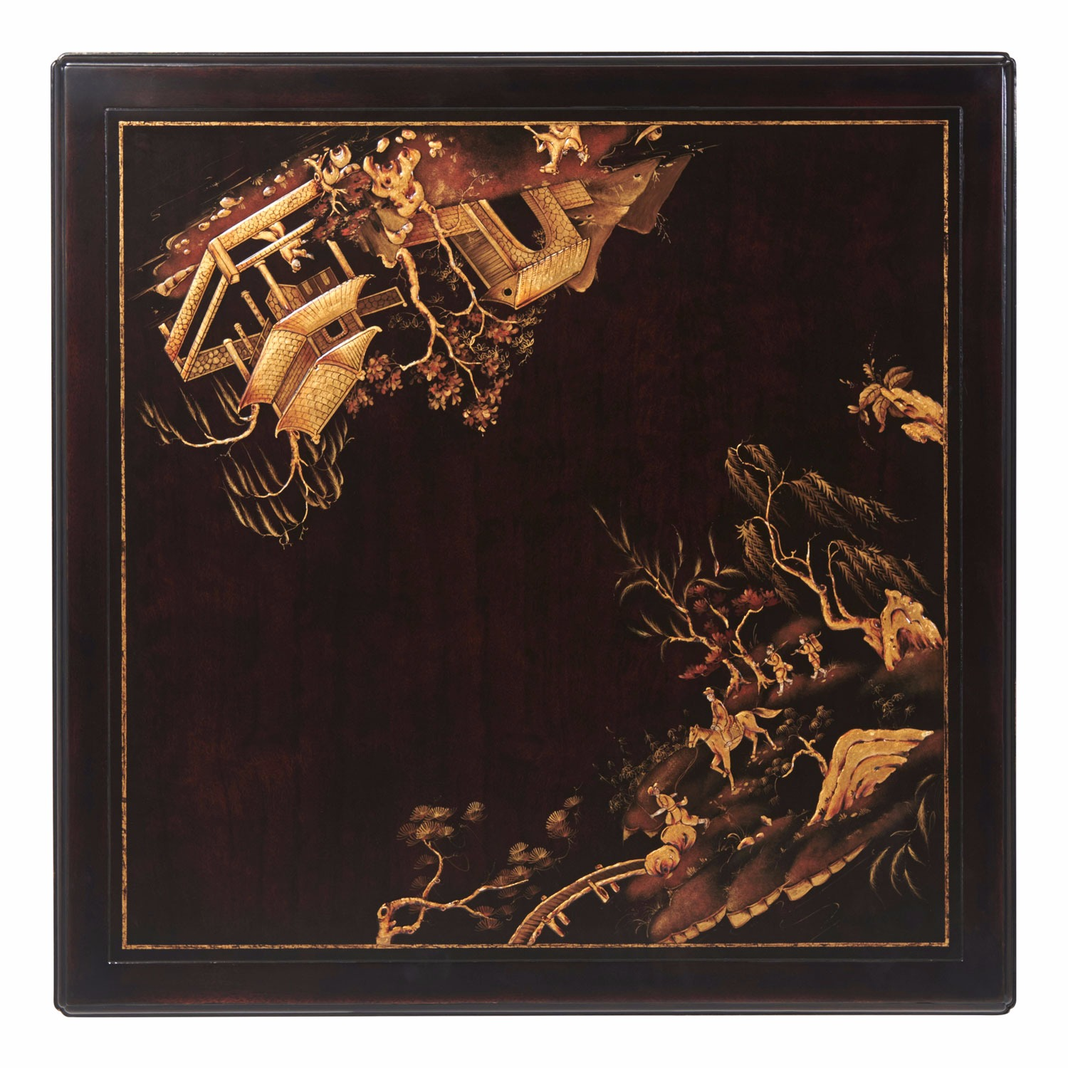 A Chinoiserie parcel gilt accent table