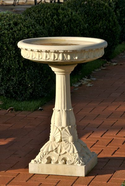 Victorian stone bird bath