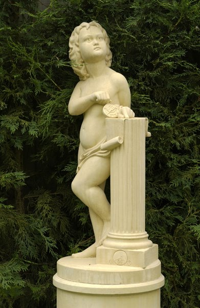 Cast stone statue on pedestal - Astronomy