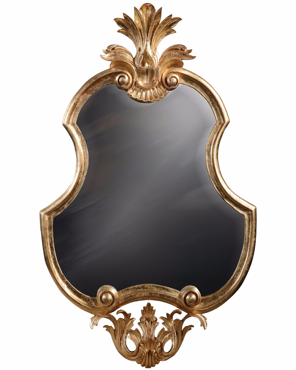 Hand carved French style gilded mirror - 95cm