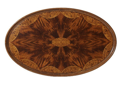 Regency style oval coffee table