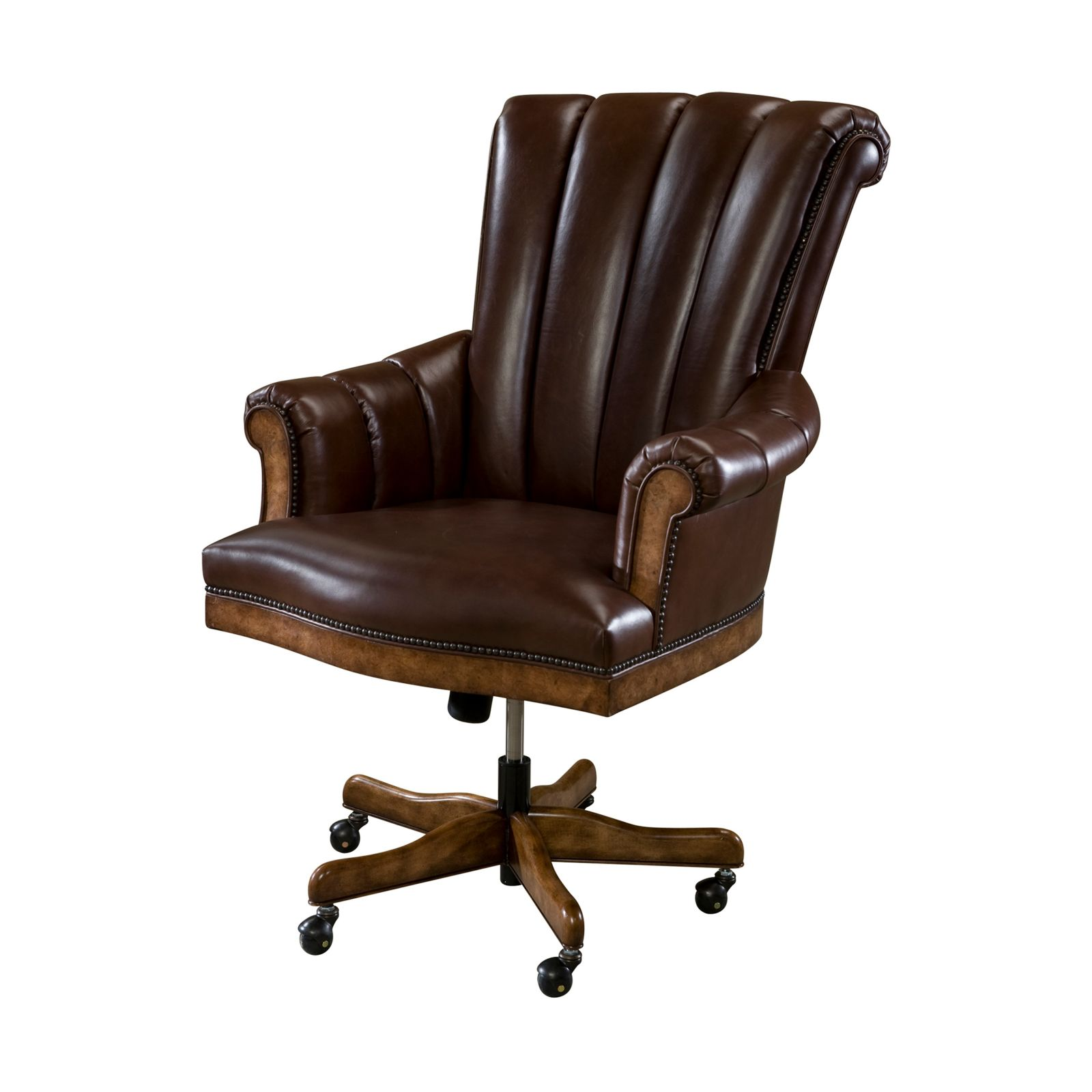 Chestnut burl veneered executive chair