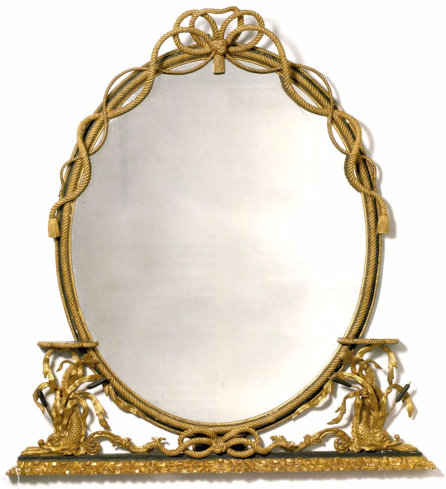 George III style water gilded mirror in gilder's special finish