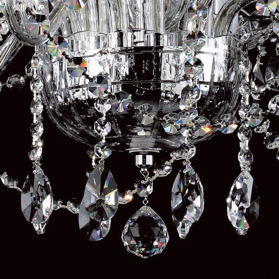 Twelve light crystal chandelier