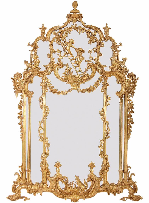 Thomas Johnson style water gilded mirror