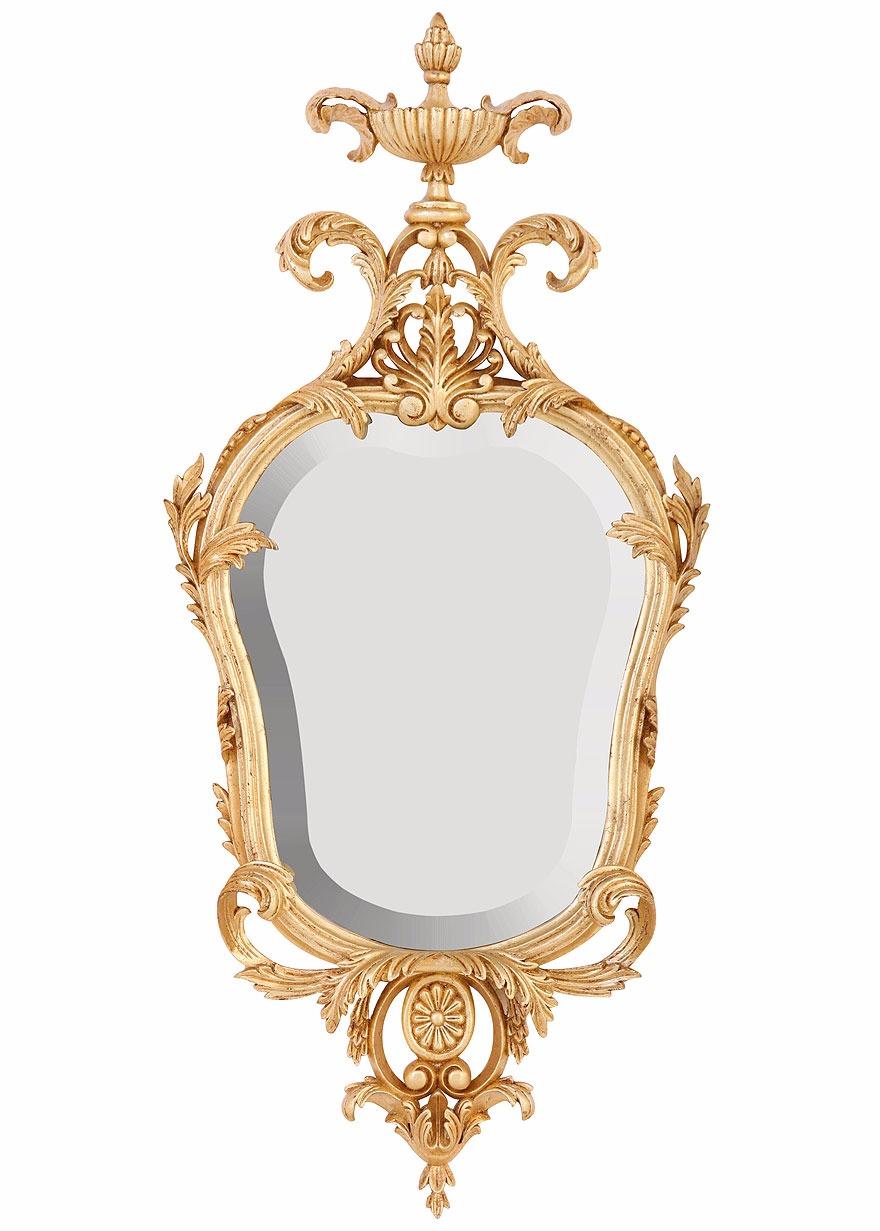Oil gilded period mirror