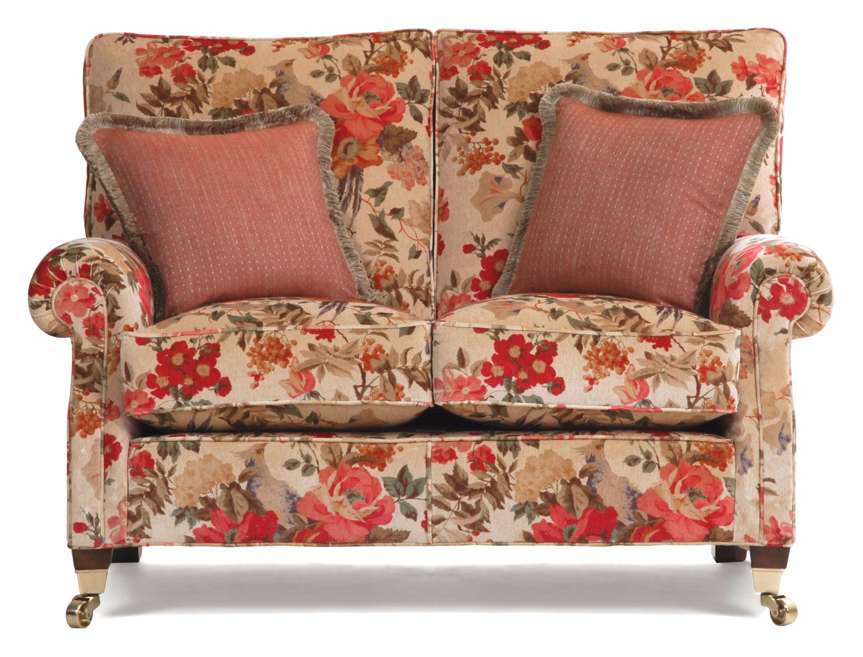 Monet 2 seat sofa in an antiqued velvet print