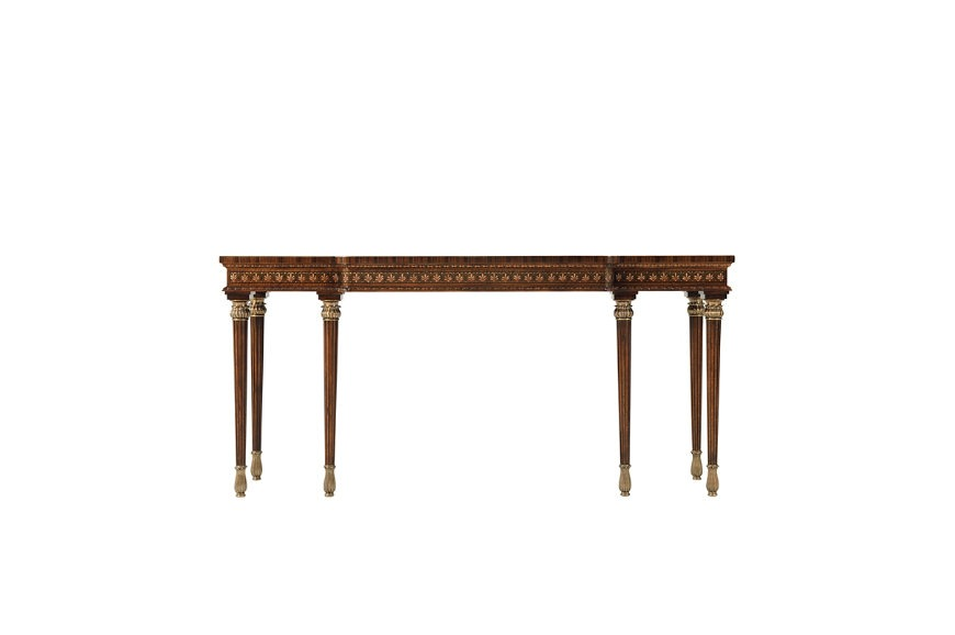 Thomas Sheraton style floral decorated Console table