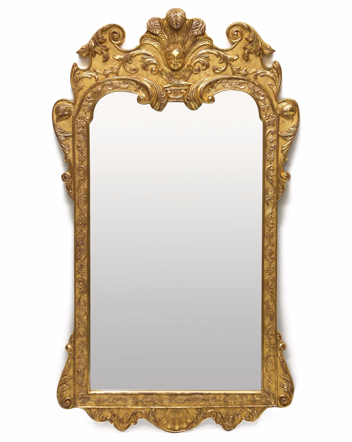 Queen Anne style water gilded mirror
