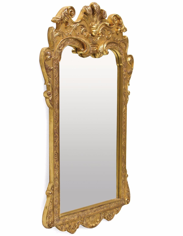 Queen Anne style water gilded mirror