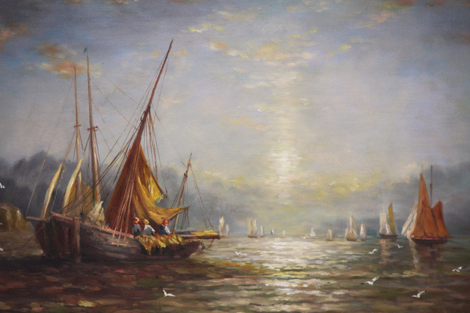 Fishing boats at dawn