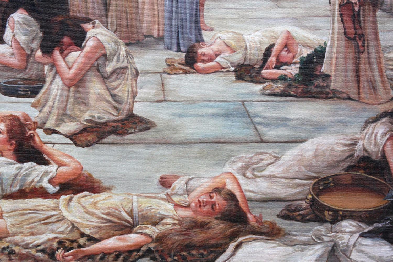 The Women Of Amphissa framed oil painting