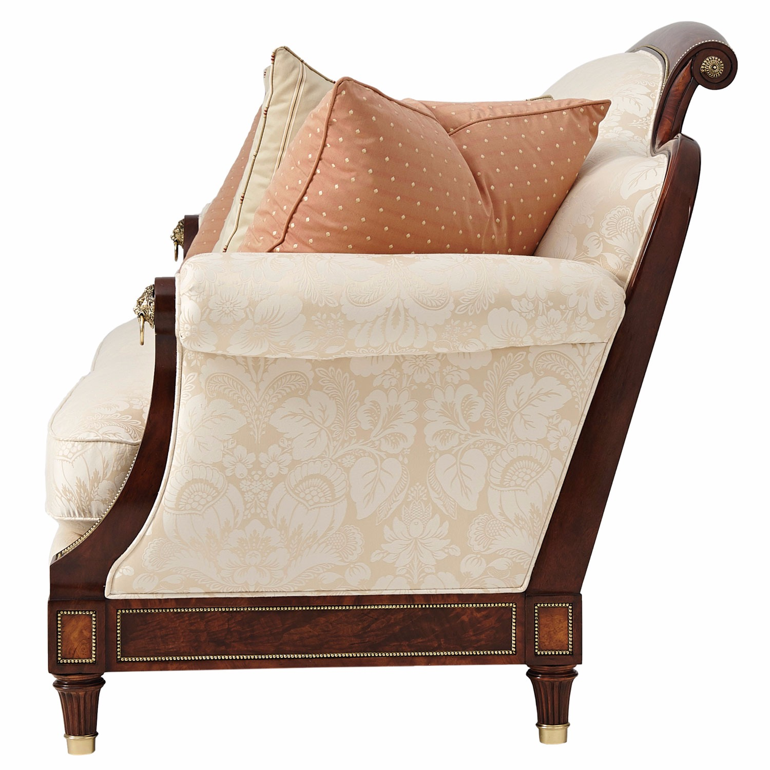 Reynolds small sofa in cotton jacquard