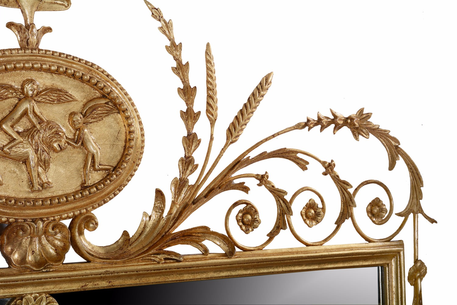 Hand carved period giltwood mirror