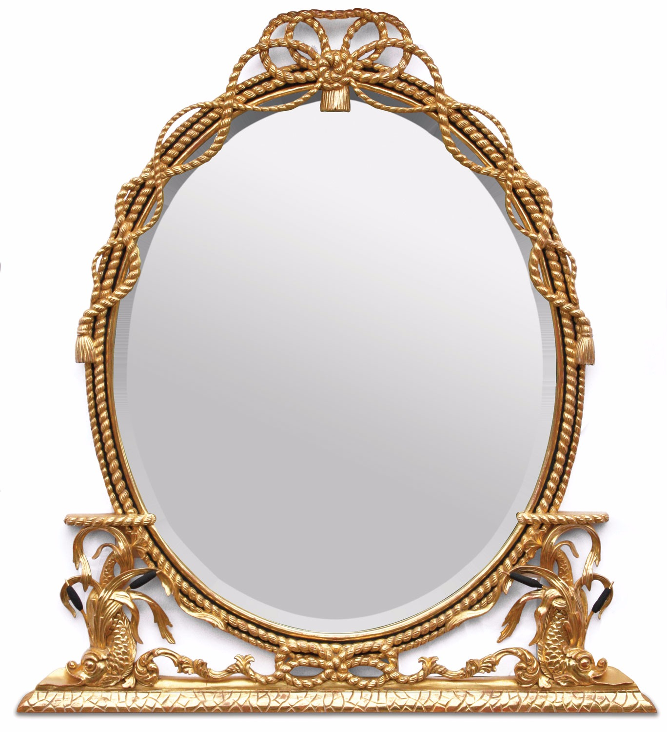 George III style water gilded mirror in Napoleonic finish
