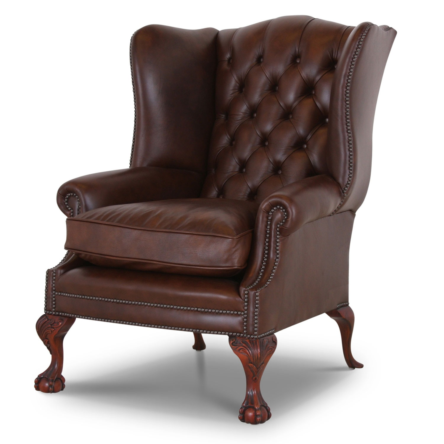 Coleridge Leather Wing Chair