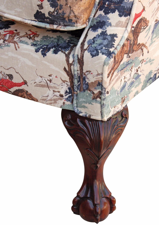 Coleridge wing chair In Tally Ho velvet