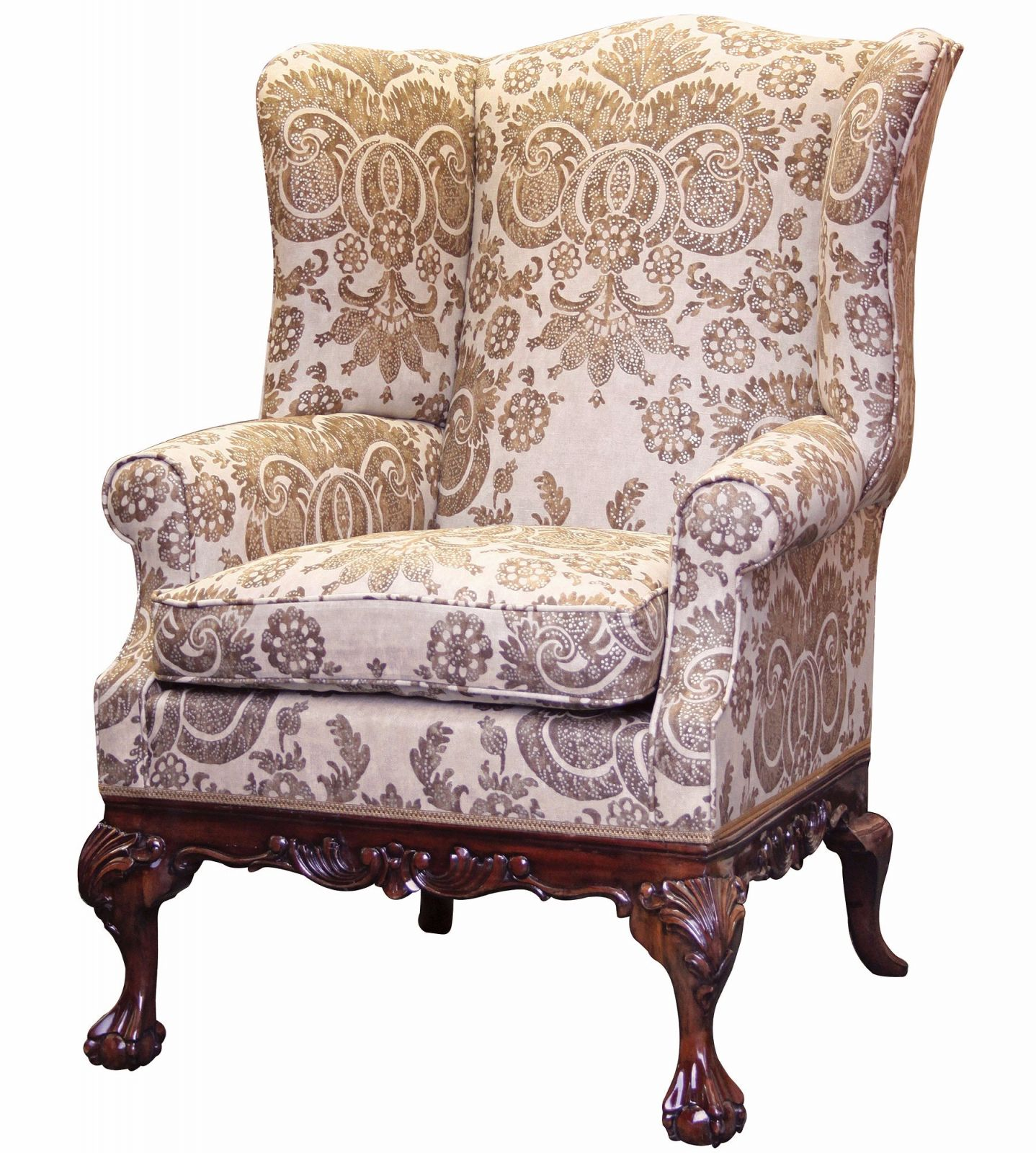 Sonning wing chair in Irving Linen