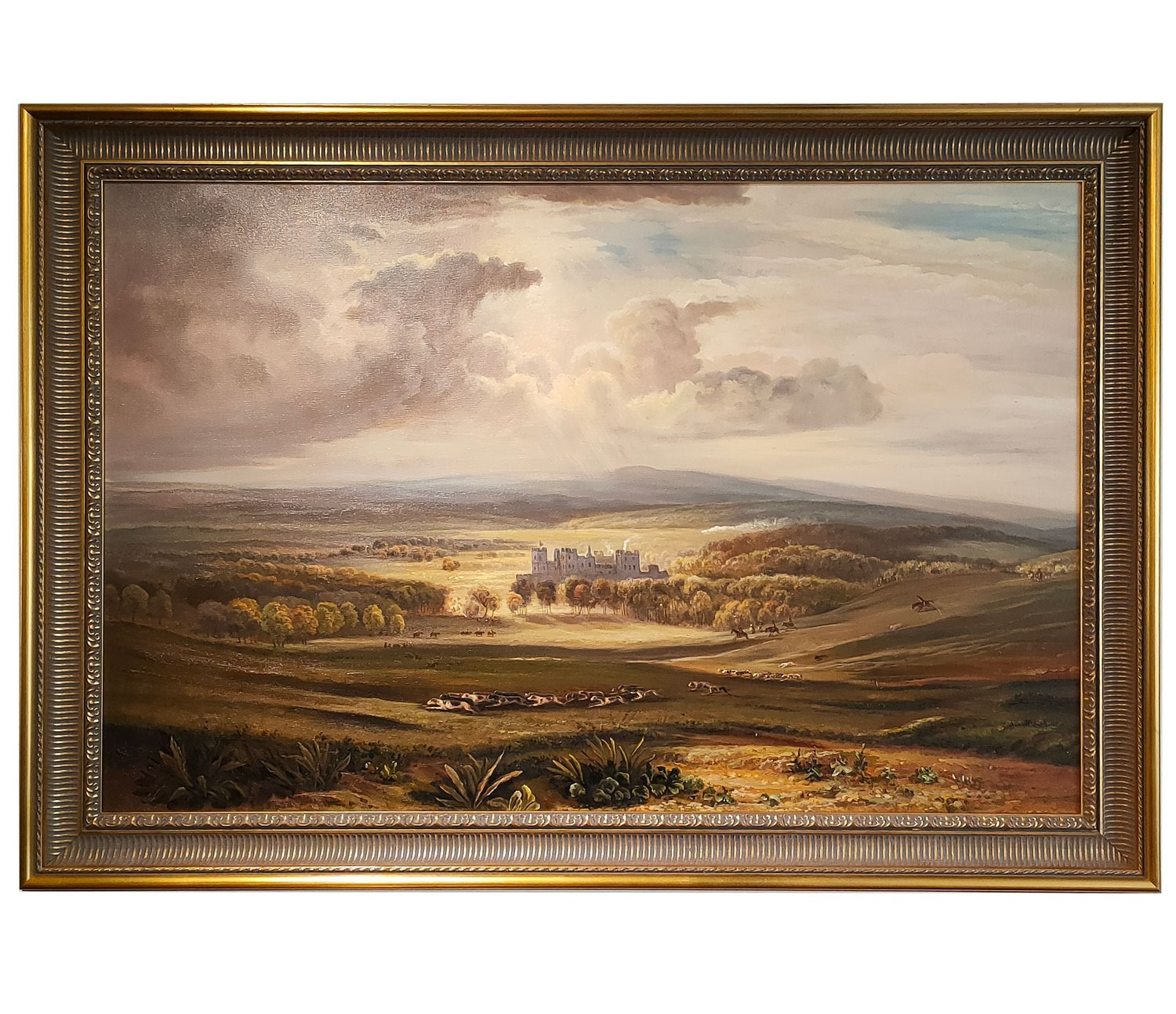 Oil painting after 'Raby Castle, the Seat of the Earl of Darlington' by JMW Turner