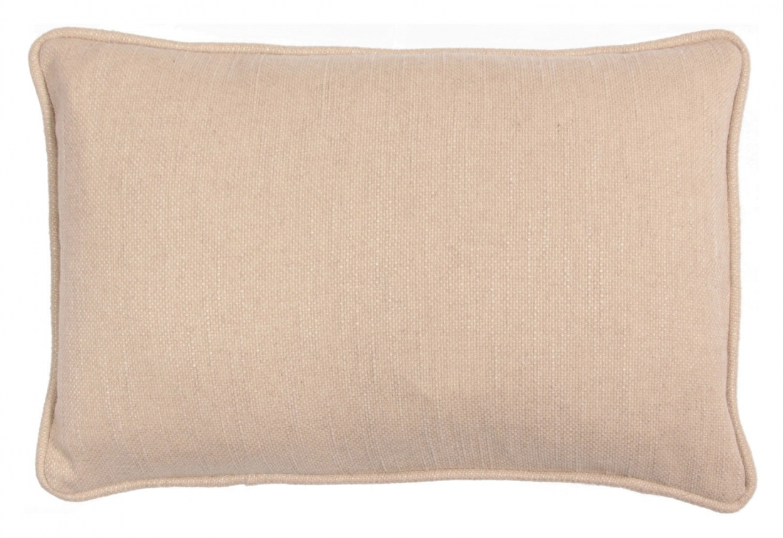 Envelope scatter cushion in natural woven fabric