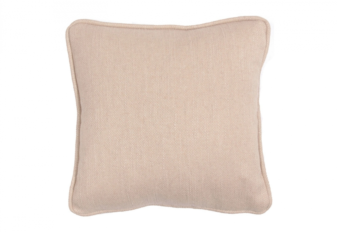 "Square 12"" small scatter cushion in natural woven fabric"