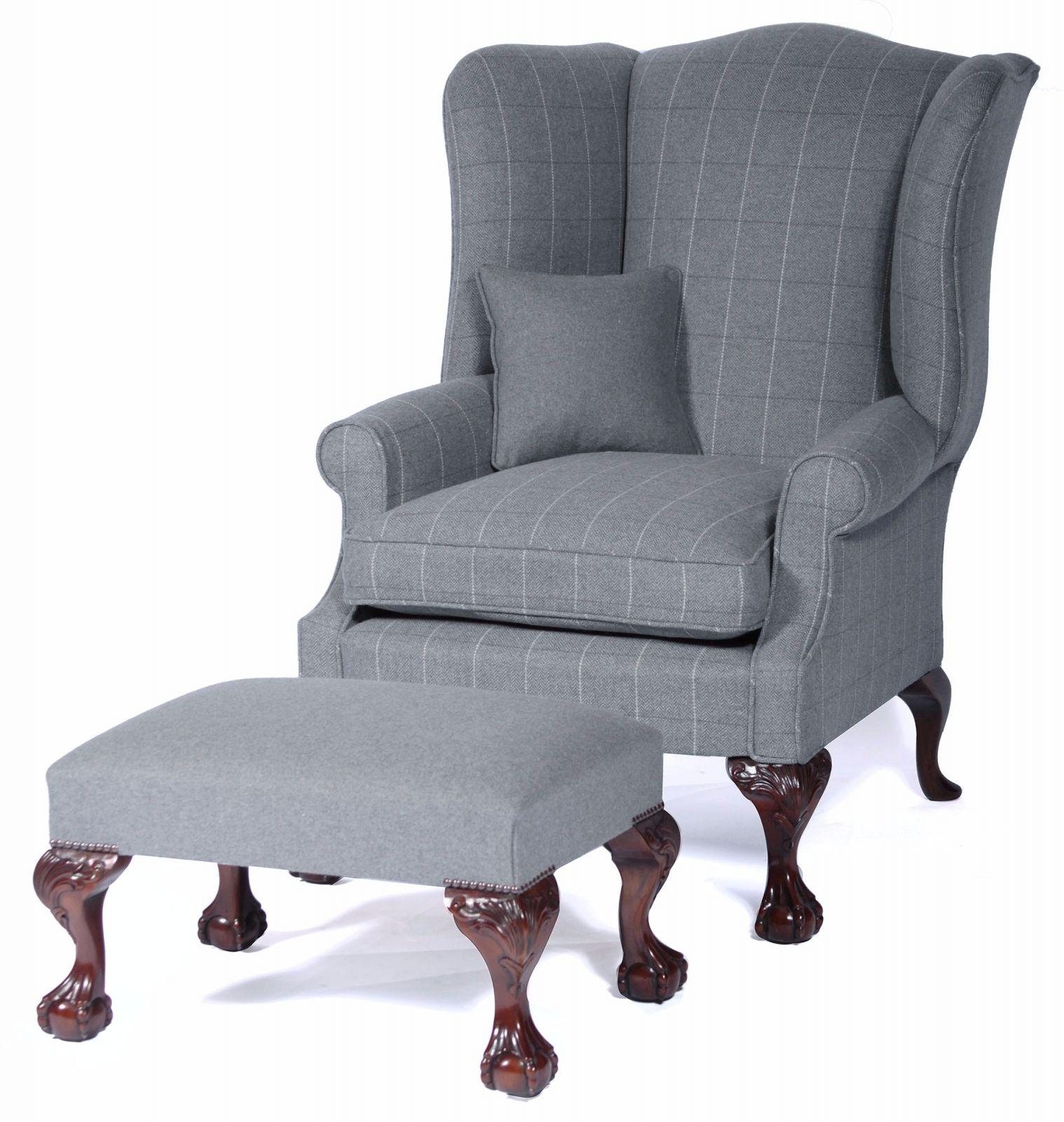 Coleridge wing chair in Merino wool