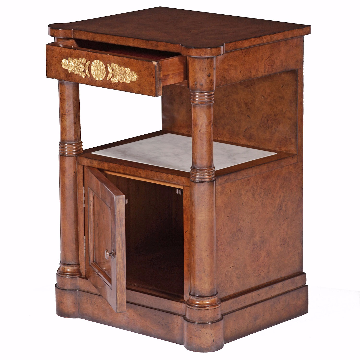 Burr oak bedside - Left hand