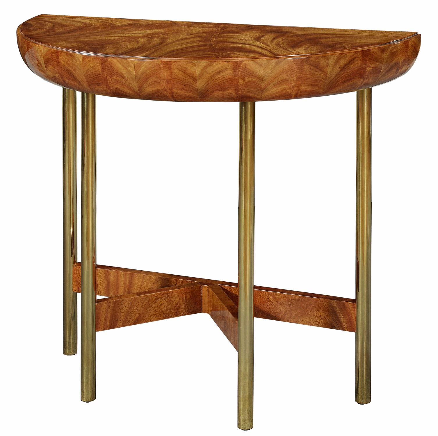 Rex limited edition Art Deco style demi-lune console table