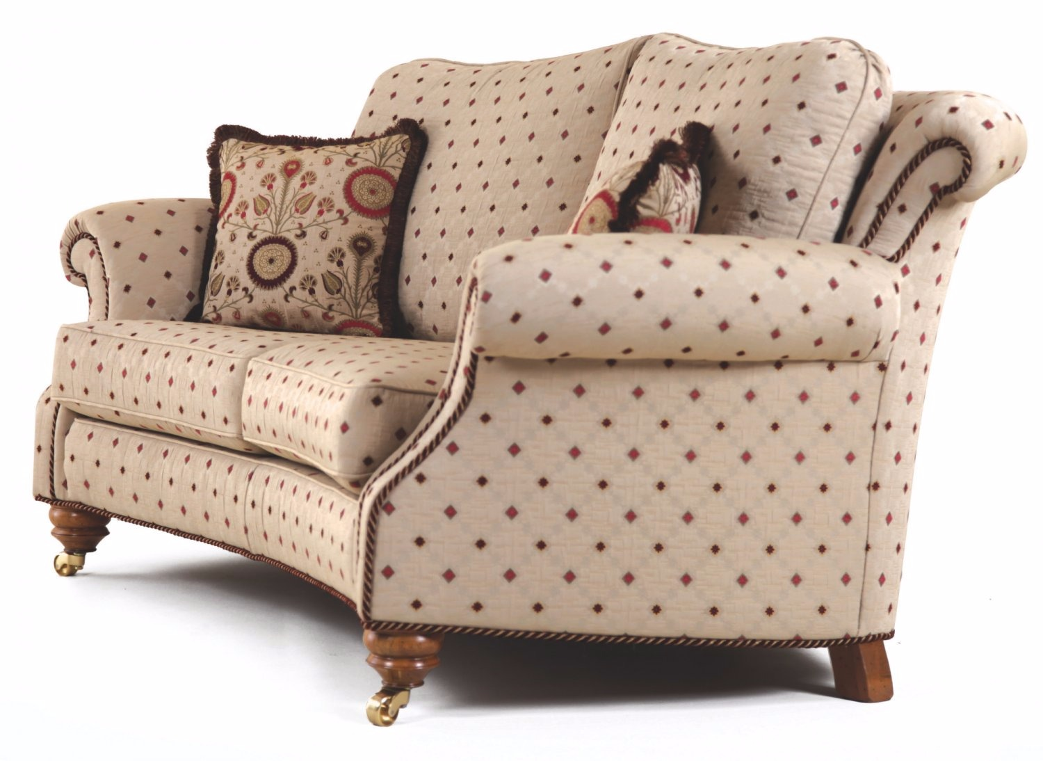 Hedley curved 3 piece suite fabric sofas in stock from for Sofa bed 3 piece suite