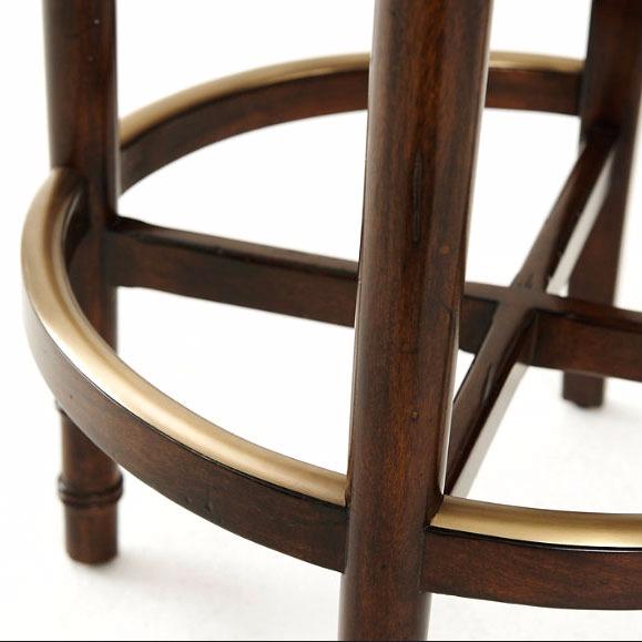 Leather swivel bar stool with backrest