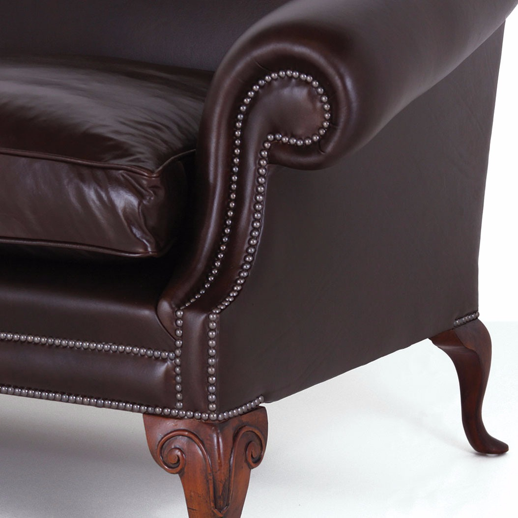 Coleridge chair in chocolate heritage leather